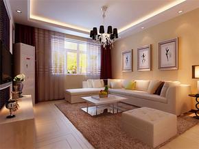 現代客廳立體墻貼效果圖片大全