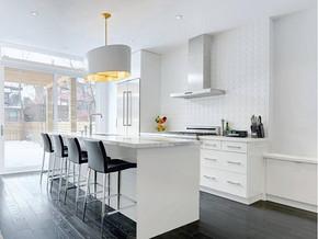 欧式古典风格厨房吧台装修效果图