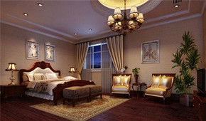 美式古典風格臥室裝修效果圖