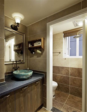 美式复古风格小卫生间装修效果图