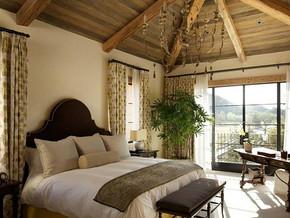 美式风格卧室吊顶装修效果图