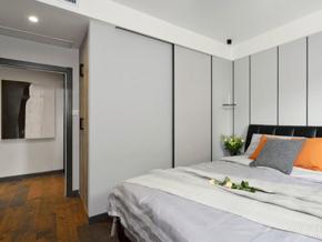 簡約風格白色主臥室設計裝修圖