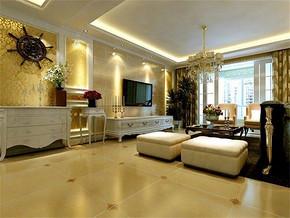 简欧风格客厅最新流行家居装修图片