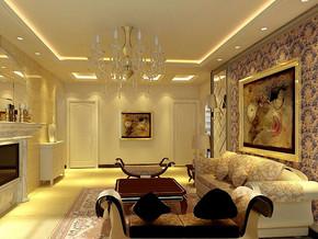 简约风格客厅吊灯装修效果图