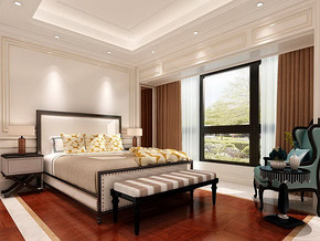 三室两厅室内装饰效果图