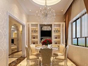 大气奢华欧式风格餐厅装修效果图