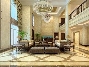 歐式風格客廳吊燈裝修設計效果圖