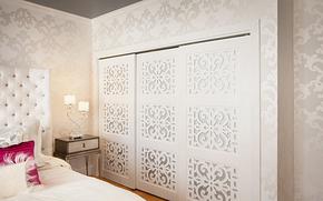 現代風格臥室鏤空衣柜裝修效果圖