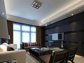 現代風格小戶型客廳電視背景墻效果圖