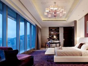 時尚精美簡歐風格酒店客房裝修效果圖