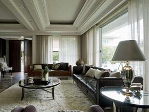 美式风格客厅吊顶装修效果图