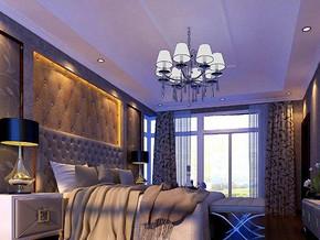 歐式風格臥室吊燈吊頂裝修效果圖
