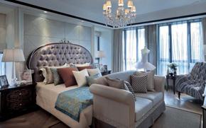 歐式風格大臥室裝修效果圖