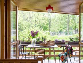 田园风格自然优雅阳台装修设计图