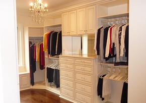 簡約歐式風格整體衣柜裝修效果圖