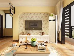 田园风格客厅电视背景墙装修效果图