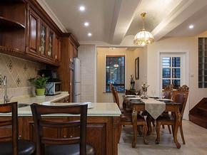 美式風格廚房櫥柜裝修效果圖