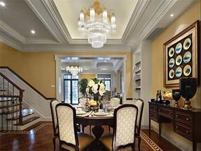 现代美式风格三室装修效果图