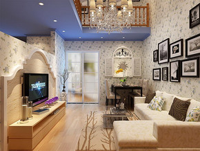 3房2厅房屋装修设计效果图