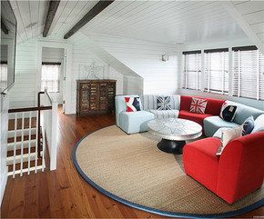 美式簡約風格閣樓客廳裝修效果圖