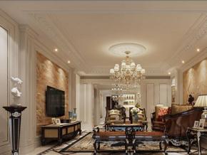 奢华欧式古典客厅装修效果图