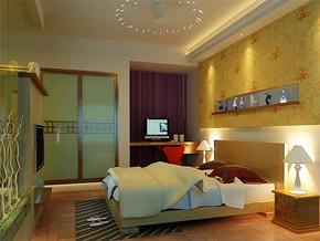 現代簡約臥室效果圖