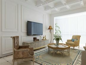 現代簡約三居室客廳背景墻裝修效果圖大全