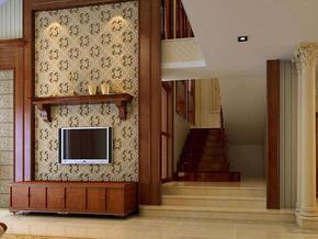 歐式風格客廳電視背景墻裝修效果圖
