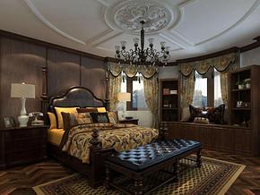 美式風格臥室吊頂裝修效果圖