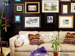 精美個性現代客廳照片墻設計裝修效果圖