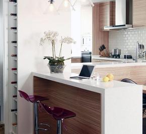 小戶型多功能廚房吧臺裝修效果圖