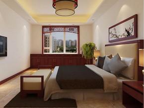 中式風格臥室背景墻裝修效果圖