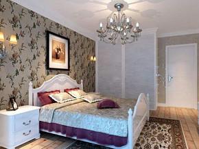 韩式风格复式卧室大衣柜装修效果图