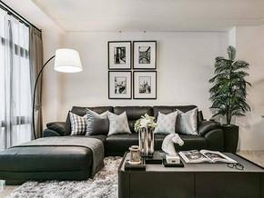 简约风格客厅沙发背景装修效果图