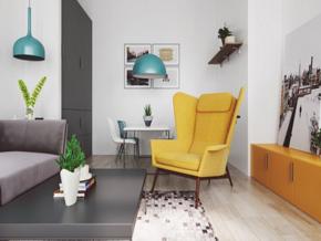 簡約風格小戶型客廳裝修效果圖