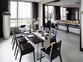 現代家居餐廳裝修設計效果圖