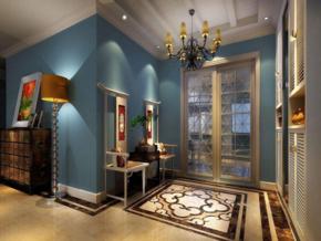 地中海风格客厅玄关装修效果图