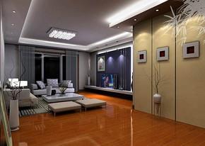 简约客厅背景墙装修效果图