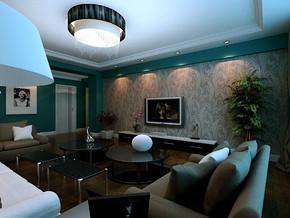 简约风格客厅电视背景墙装修效果图