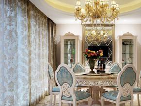 典雅浪漫歐式風格餐廳設計裝修效果圖