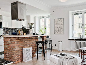 自然白色北歐風格客廳設計裝修效果圖