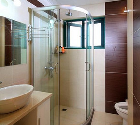 一百二十平米干湿区分现代风格卫生间装修效果图
