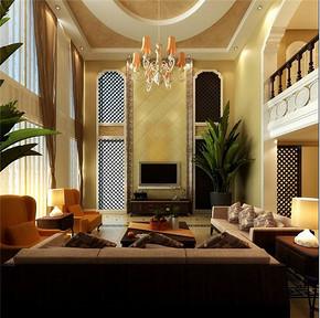 现代风格小复式客厅装修效果图