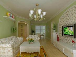 田园风格客厅吊灯装修效果图