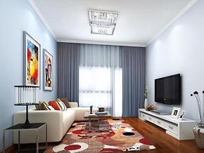 现代简约风格客厅装修设计效果图