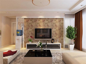 現代風格小戶型客廳簡單吊頂效果圖