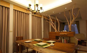 美式复古风格餐厅装修效果图