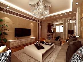 現代簡約風格客廳沙發效果圖