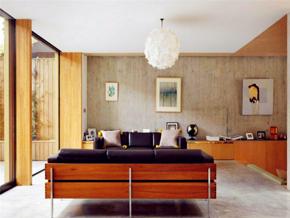 优雅现代风格客厅背景墙装修效果图