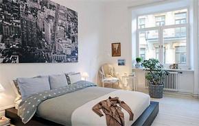 简约风格单身公寓卧室装修效果图